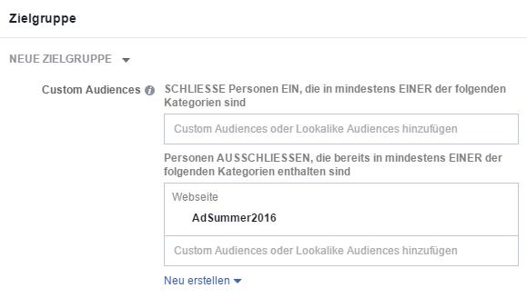 Frequency Capping bei Facebook: Schritt 3