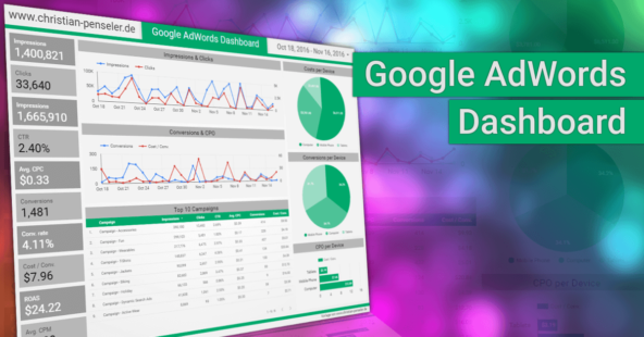 Google AdWords Dashboard – kostenlose Data Studio-Vorlage