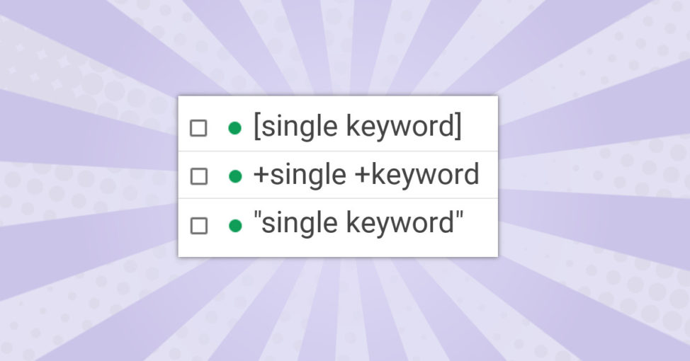 SKAGs - Single Keyword Ad Groups